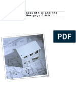 Business ethics and the mortgage crisis