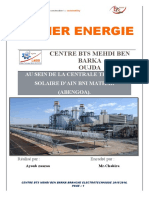 Centrale Thermo Solaire Rapport Du Stage