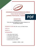 TOPOGRAFIA I - TIPOS DE LEVANTAMIENTO TOPOGRAFICO PARA ALACANTARILLADOS