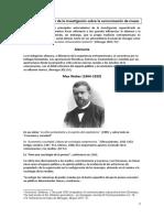 Génesis y evolución de la investigación - Alemania, Weber Lepizig (1)