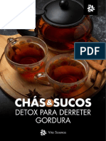 Livro Digital - Chás e Sucos Detox Para Derreter Gordura