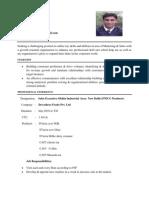 Arif Exeprience Pic Resume