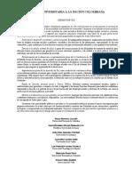 Carta Universitaria a La Nación Colombiana