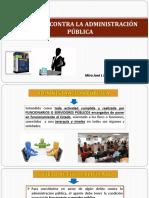 DELITOS CONTRA LA ADMINISTRACION PUBLICA COLUSION Y PECULADO