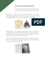 2. Breve Pasaje Histórico de Ciencias Forenses