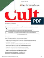 Ensaio - Virtualidade, Visão e Vazio - Publicado [CULT]