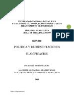 Planificacion Curso Representacines y Políti CA 2013