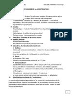 PHYSIOLOGIE DE LA MENSTRUATION