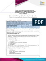 Guía de actividades y rúbrica de evaluación - Tarea 4 - Requerimientos pedagógicos, didácticos y tecnopedagógicos (1)
