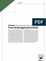 Focus sul passaggio generazionale