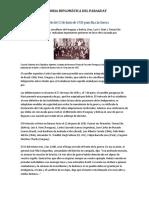 Protocolo del 12 de Junio de 1935 puso fin a la Guerra del Chaco