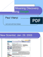 automatic meaning discovery using Google
