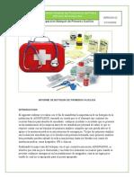 INFORME DE BOTIQUIN DE PRIMEROS AUXILIOS