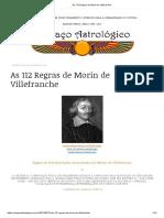 As 112 Regras de Morin de Villefranche