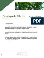 Catálogo de Libros MBE 2018