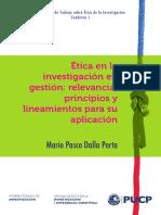 Etica en La Investifacion en Gestión PUCP
