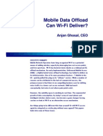 Mobile Data Offload - Can Wi-Fi Deliver