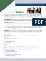 Programa del Diplomado Formación de Servidores Públicos