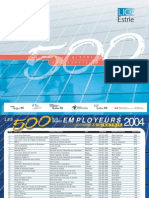500 maiores empregadores de Estrie
