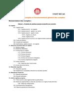 Nomenclature des comptes et fonctionnement général des comptes