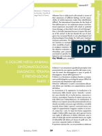00004 Il Dolore Negli Animali Sintomatologia Diagnosi Terapia e Prevenzione Parte 1