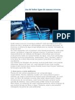 Quatro  benefícios de beber água de osmose reversa-A
