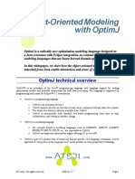 Object-Oriented Modeling with OptimJ