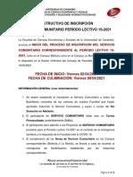 Instructivo Inscripción SERVICIO COMUNITARIO DEFINITIVO 1S2021