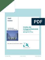 Leano. Erhöhe die Anlageneffektivität Total Productive Management (TPM) Schriftenreihe für Lean Management. 3. Auflage 2006