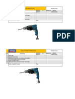 4.-  Check List Máquina de taladro electrico