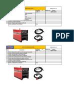 4.- Check List Máquina de Soldar