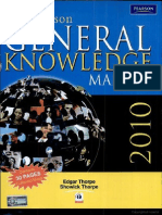 The Pearson General Knowledge Manual 2010 (New Edition) By Thorpe
