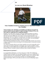 Entretien avec Benoit Blondeau Triathlète Ferrièrois