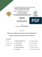 Etude Des Proprietes Thermodynamiques Et Thermophysiques