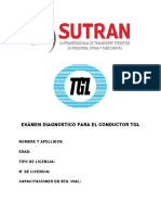 EXAMEN DIAGNOSTICO - SUTRAN