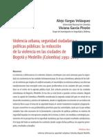 violencia urbana y seguridad publica