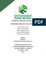 INFORME No 5 - PROPIEDADES QUIMICAS DE LOS ALCOHOLES.