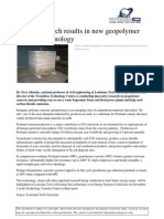 173454176-Green Research Results in New Geopolymer Concrete Technology