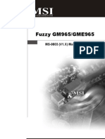 MSI Fuzzy GME 965 Manual