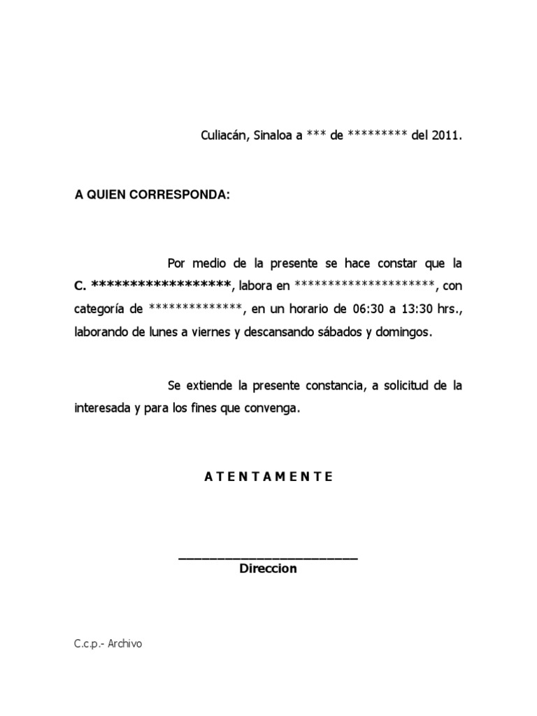 Ejemplo Carta De Constancia De Trabajo   apexwallpapers.com