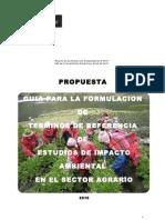 GUIA TERMINOS REFERENCIA EIA - SECTOR AGRARIO