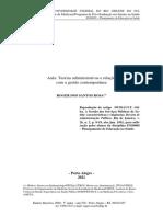Aula: Teorias administrativas e relação com a gestão contemporânea