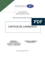 Rapport de Capteur de Luminosité
