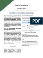 Práctica 5 Óptica Geométrica