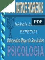 Test Raven Matrices Progresivas Color