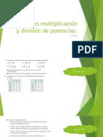 Ejercicios multiplicación y división de potencias 13 mayo