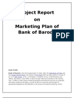 Project report on Bank of Baroda Marketing Plan