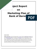 Project report on Bank of Baroda Marketing Plan