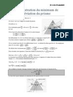 Minimum Deviation Prisme