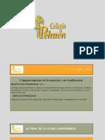 1° PPT MARZO   8° Básico Ciencias Naturales  Comportamiento de la materia y su clasificación 2021